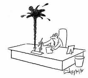 Fountain Pen cartoon from Cartoon Stock