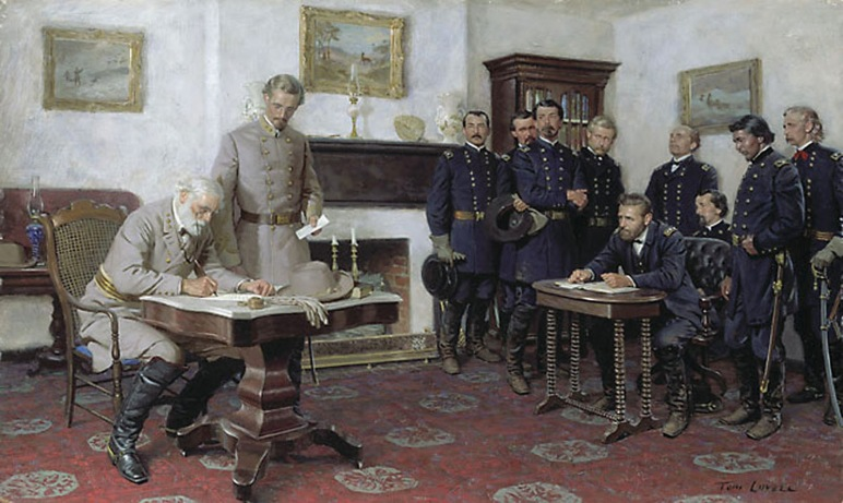 Surrender at Appomattox by Tom Lovell